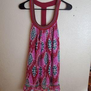 Torrid Sleeveless Pink Halter Aztec Boho Top